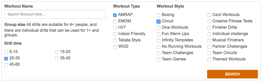 workout design club bootcamp exercises
